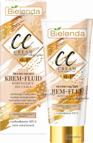 Bielenda - CC Cream Body Perfector 10in1 - Multifunctional body fluid corrective cream - Waterproof - SPF 6 - 175 ml