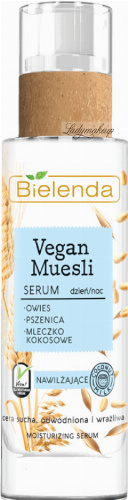 Bielenda - Vegan Muesli Serum - Moisturizing serum for sensitive and dry skin - Coconut - 30 ml