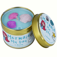 Bomb Cosmetics - Mermaid My Day Tinned Candle - Hand-made scented candle with essential oils - Mermaid