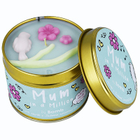 Bomb Cosmetics - Mum In a Million Tinned Candle - Hand-made scented candle with essential oils - MOM ONE PER MILLION