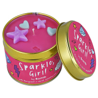 Bomb Cosmetics - Sparkle, Girl Tinned Candle - Hand-made scented candle with essential oils - GLOSSY, GIRL