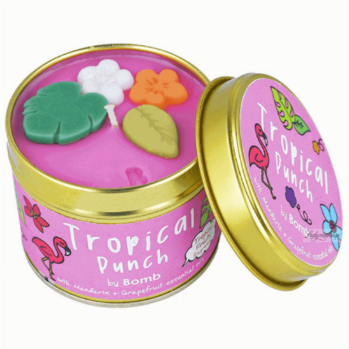 Bomb Cosmetics - Tropical Punch Tinned Candle - Ręcznie wytwarzana świeca zapachowa z olejkami eterycznymi - TROPIKI