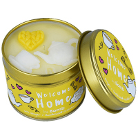 Bomb Cosmetics - Welcome Home Tinned Candle - Hand made scented candle with essential oils - WELCOME TO HOME
