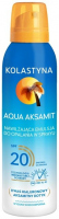 KOLASTIN - Aqua Velvet - Moisturizing tanning lotion spray - SPF20 - 150 ml