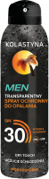 KOLASTIN - MEN - Transparent protective spray for tanning - SPF30 - 150 ml
