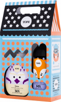 YOPE - Zestaw upominkowy dla dzieci - Mydło do rąk Jaśmin 400 ml + Żel pod prysznic Pomarańcza i Jabłko 400 ml