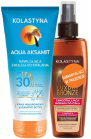 KOLASTIN - Tanning set - Moisturizing emulsion - SPF30 - 200 ml + Self-tanning body mist 150 ml