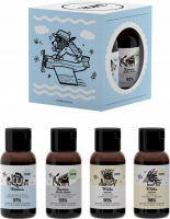 YOPE - Travel Size Set - Zestaw podróżny do pielęgnacji ciała i włosów - Szampon i Odżywka Mleko Owsiane + Żel pod prysznic Yunnan + Balsam Werbena - 4x40 ml