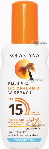 KOLASTYNA - Emulsja do opalania w sprayu - SPF15 - 150 ml