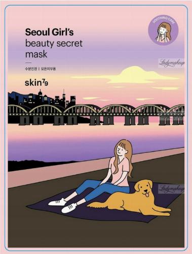Skin79 - Seoul Girl`s Beauty Secret Soothing Mask - Kojąca maska do twarzy w płacie - 20 g