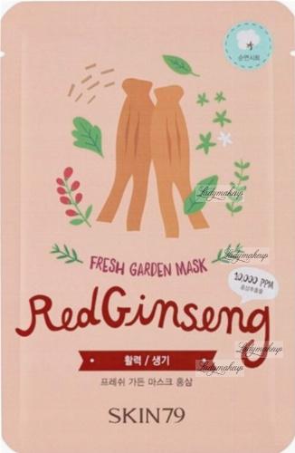Skin79 - FRESH GARDEN MASK - Maska do twarzy w płacie - Red Ginseng