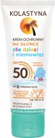 KOLASTYNA - Krem ochronny na słońce dla dzieci i niemowląt - SPF50 - 75 ml